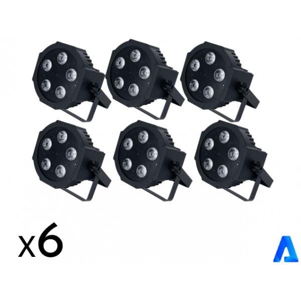 <p>Le pack éclairage Déco, est composé de 6 projecteurs à LED avec prise.</p> <p></p> <p>Idéal pour créer une ambiance lumineuse style lounge.</p> <p></p> <p>Couleurs des projecteurs au choix, fixe, mode son ou DMX.</p> <p>Autonomie de 7 heures.</p>